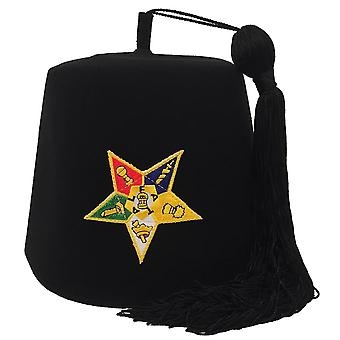 Order of the Eastern Star OES Black Fez