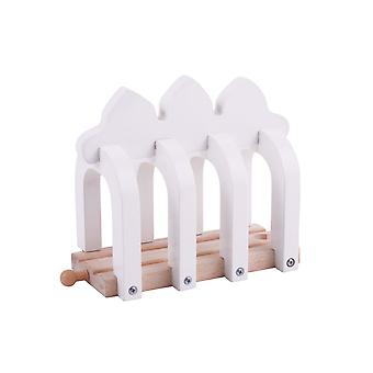 Bigjigs Rail Wooden Ribcage Tunnel Through Shed Track Railway Accessories