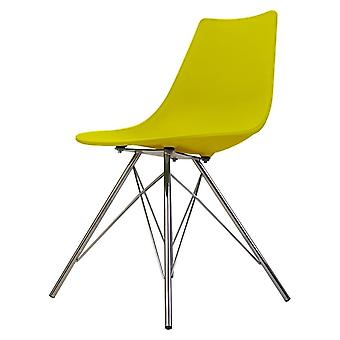 Fusion Living Iconic Lime Plastic Dining Chair With Chrome Metal Legs Fusion Living Iconic Lime Plastic Dining Chair With Chrome Metal Legs Fusion Living Iconic Lime Plastic Dining Chair With Chrome Metal Legs Fusion Living
