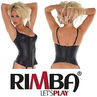 Rimba Lingerie' Ladies Leather Lace Up Basque (R200)