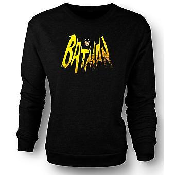 Womens Sweatshirt Batmans Cape - Comic Hero