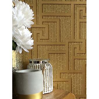 Versace Parvus Greek Key Wallpaper - Gold - 10m x 70cm 96236-1