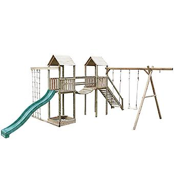 Action Arundel Twin Tower Wooden Climbing Frame And Swings