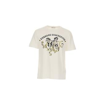 Versace Collection Cotton Printed Logo T-shirt bianca