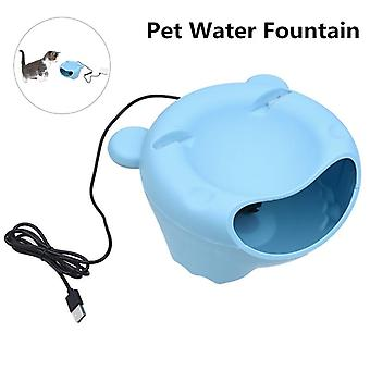 Automatic pet water fountain electric water dispenser for small cat dog - usb version, blue