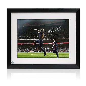 Framed Andres Iniesta Signed Photo: Copa Del Rey Final