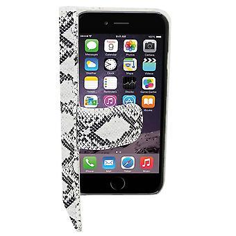 Book1 Case PU in pelle look per Apple iPhone 6 Plus Serpentine White