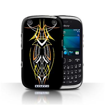 STUFF4 Case/Cover for Blackberry Curve 9320/Yellow/Orange/Tribal Pinstripe