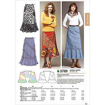 Patchy Skirts  Xs  S  M  L  Xl Pattern K3789
