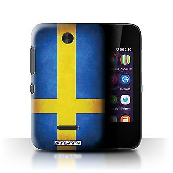 STUFF4 Case/Cover for Nokia Asha 230/Sweden/Swedish/Flags
