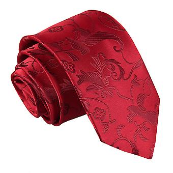 Burgundy Passion Floral Patterned Tie