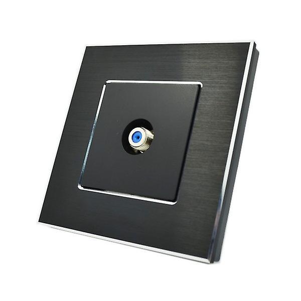 I LumoS Luxury Black Brushed Aluminium F Screw Type Satellite Single Socket