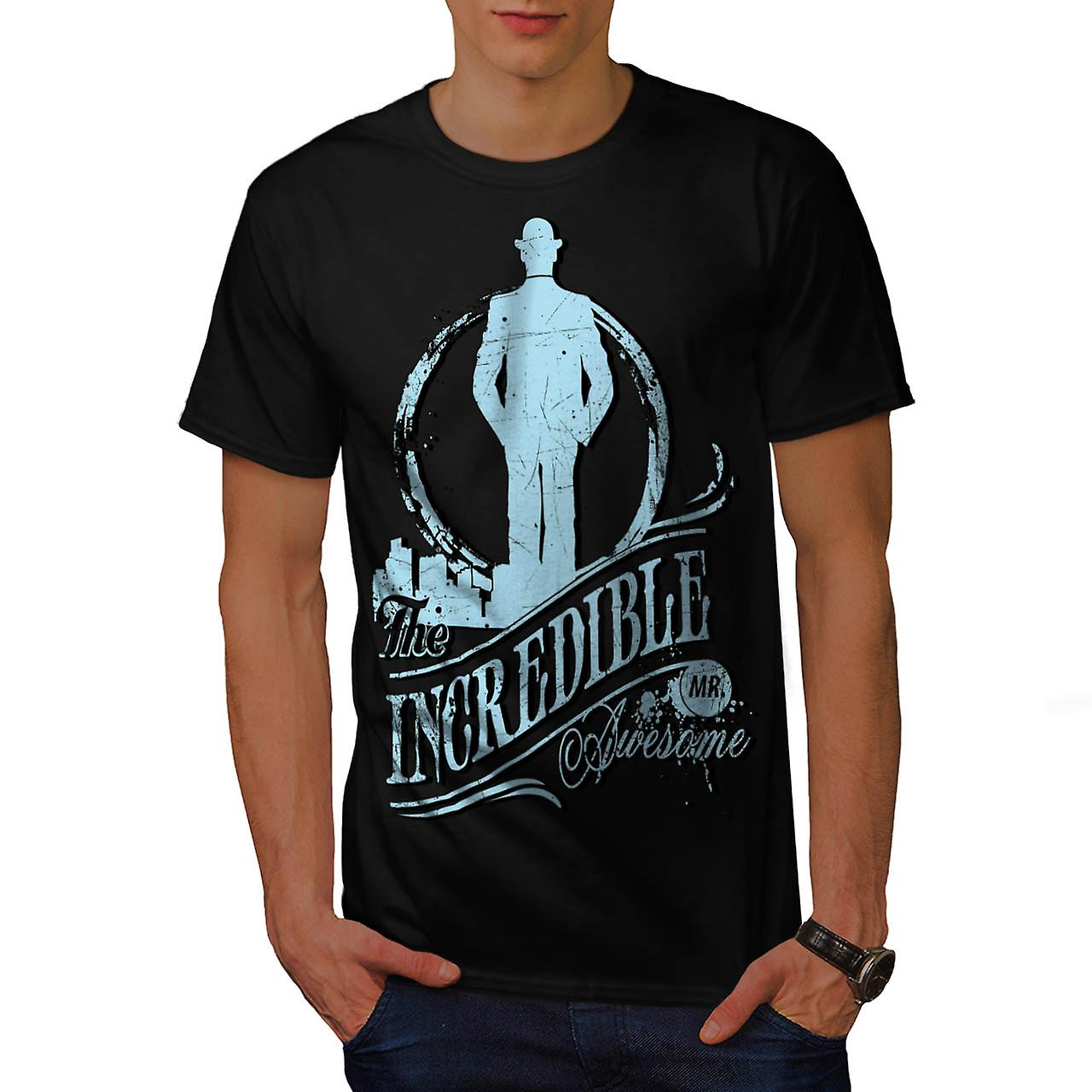 Incredible Mr Awesome Movie Hero Men Black T-shirt | Wellcoda