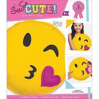 Emoji Wink Pillow Sew Cute! Felt Kit-  75360