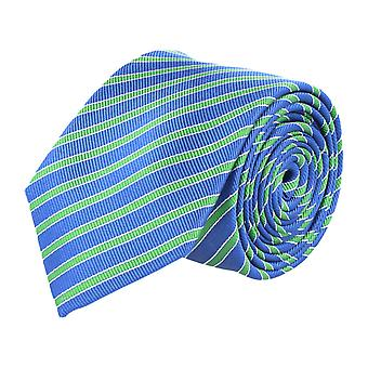 Pelo classic silk tie tie silk dark blue - green striped