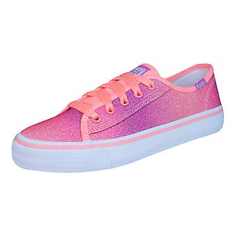 Keds Double Up Sugar Dip Girls Trainers / Shoes - Coral