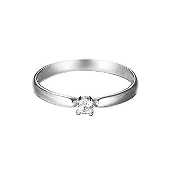 ESPRIT women's ring silver zirconia of solo Glam ESRG92365A1