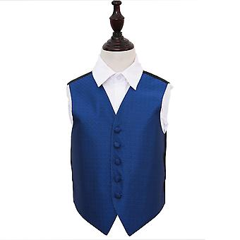 Boy's Royal Blue Greek Key Wedding Waistcoat
