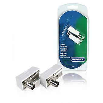 Bandridge Coax Connector Male-Male White