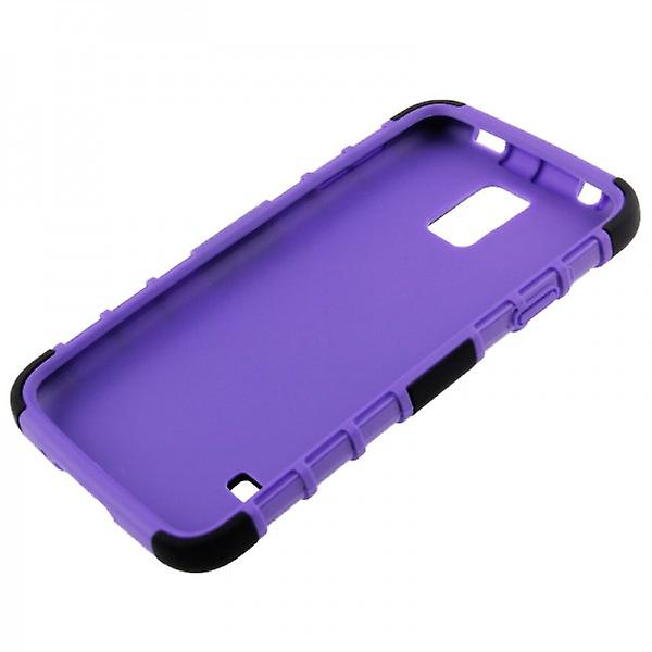 Hybrid case 2 piece SWL robot purple for Samsung Galaxy S5 mini