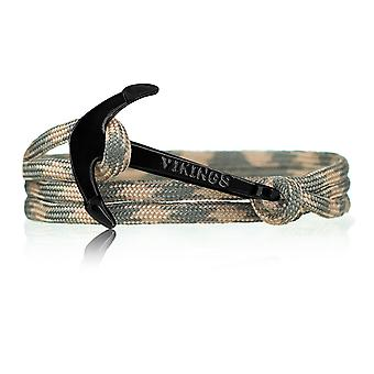 Vikings Black-line anchor strap nylon olive/beige with black anchor 6077