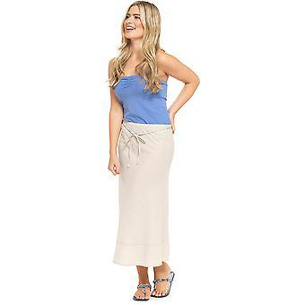 Womens Tom Franks Bias Cut Easy Care Linen Summer Flared Maxi Skirt