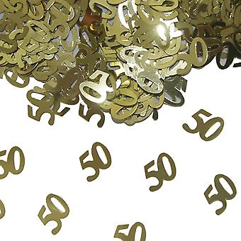 Table confetti 50 gold wedding decoration gold time confetti 15 g