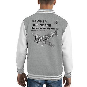 Haynes Owners Workshop Manual Hawker Hurricane VW Kid's Varsity Jacket