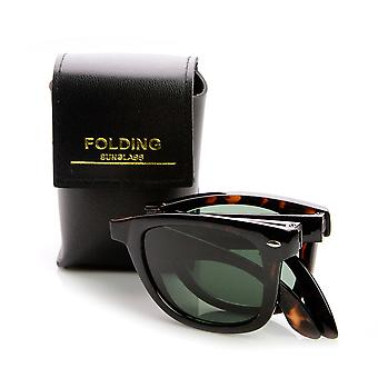 Limited Edition Folding Pocket Horn Rimmed Sunglasses + Case
