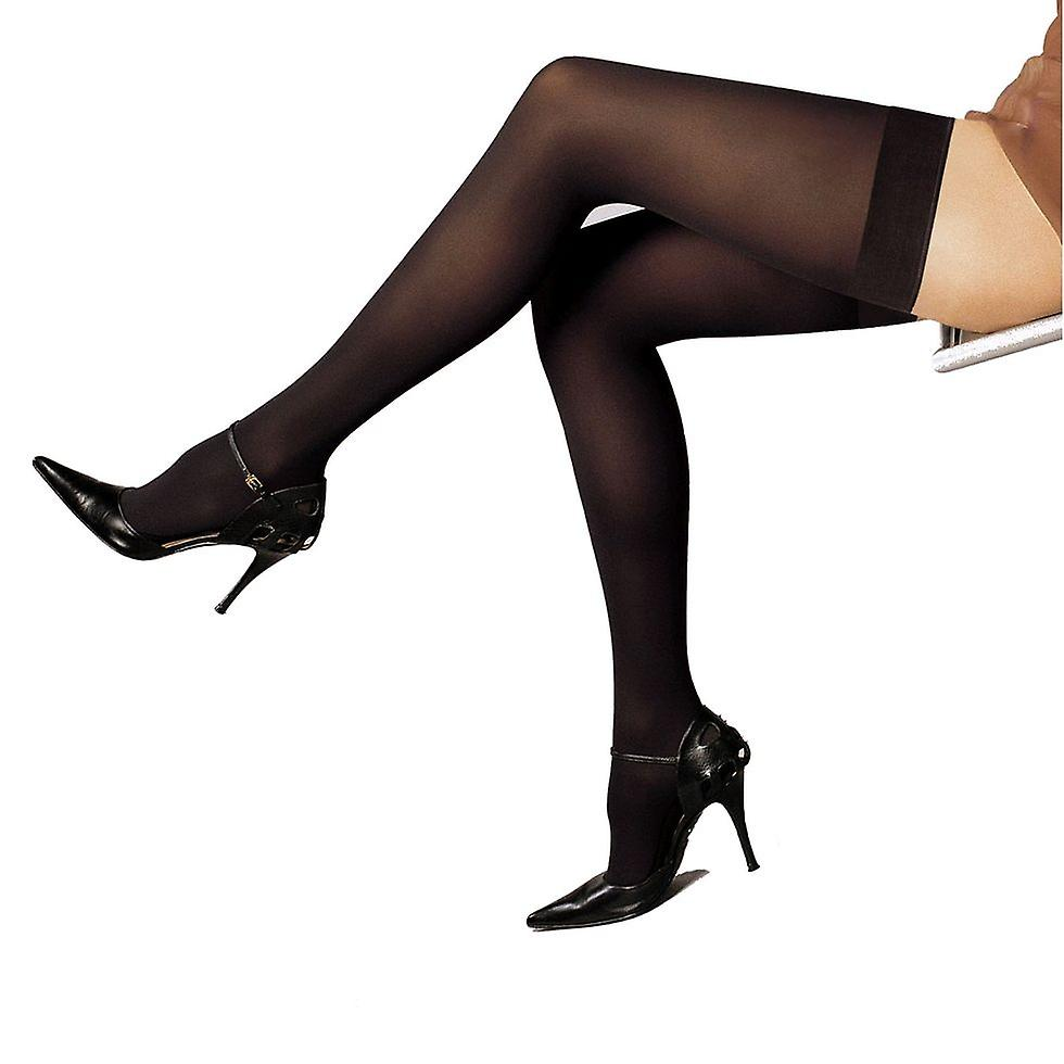 Solidea Marilyn 70 Opaque Support Thigh Highs [Style 26470] Fumo (Dark Grey)  L