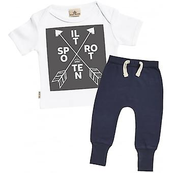 Spoilt Rotten Baby T-Shirt & Navy Joggers Outfit Set