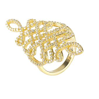 Calligraphy Ring Gold