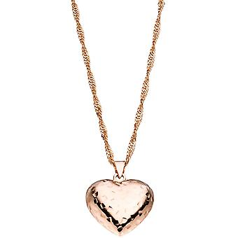 Heart pendant 925 sterling silver pink gold plated heart pendant