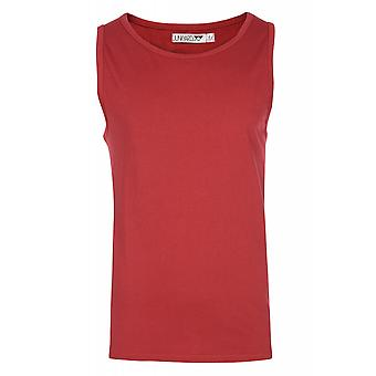 JUNK YARD Paolo shirt men's tank top red basic