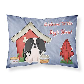 Dog House Collection Pekingnese Black White Fabric Standard Pillowcase