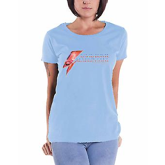 David Bowie T Shirt Aladdin Sane Eye Flash new Official Womens Skinny Fit