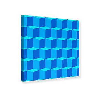 Canvas Print 3D Cube Turquoise