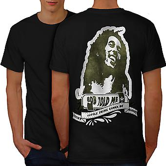Marley Rasta Celebrity Men BlackT-shirt Back | Wellcoda