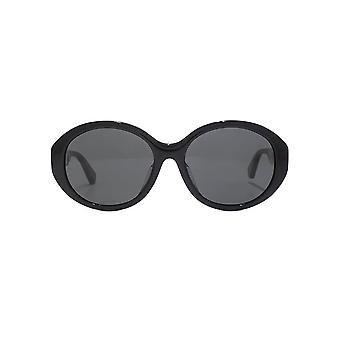 Gucci Sylvie Oval Sunglasses In Black