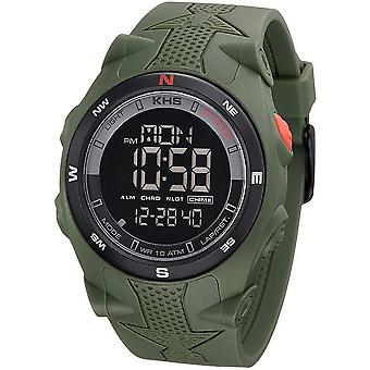 KHS watches mens watch Sentinel DC olive rubber olive chronograph KHS. SEDCO. S