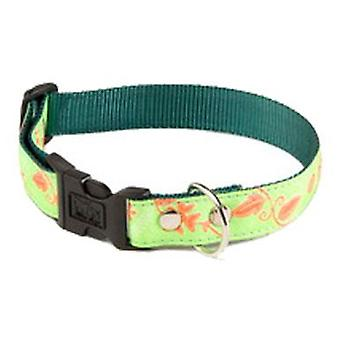 Alter Ego Collar M 25mm Floral Verde (Dogs , Collars, Leads and Harnesses , Collars)