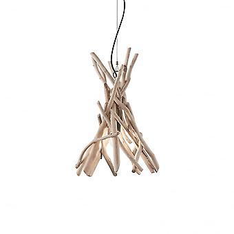 Lampa sufitowa wisząca 1 Lux idealne Driftwood naturalny drewniany kij