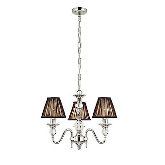 Interiors 1900 Polina Polished Nickel & Cut Crystal Chandelier, 3 Light