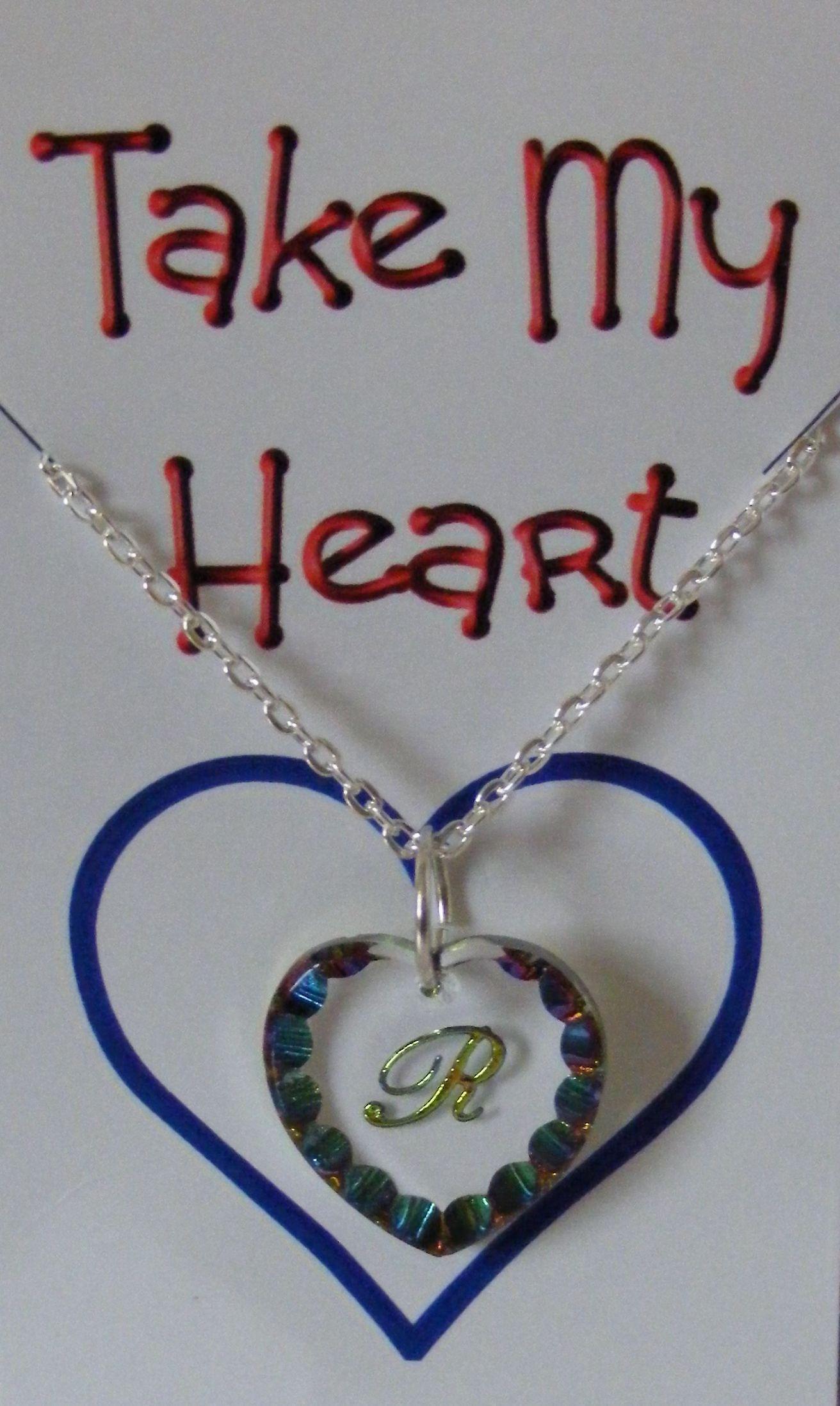 Heliotrop inledande Heart Crystal Pendant - R