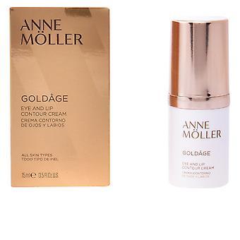 Anne Möller Goldâge Eye And Lip Contour Cream 15 Ml For Women