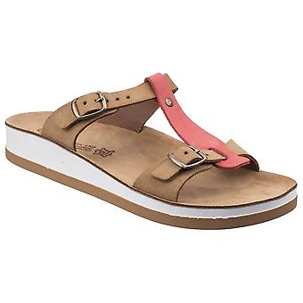 Fantasy Womens/Ladies Leather Jessamine Summer Mule