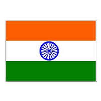 Indien Flag 5 ft x 3 ft med øjer til ophæng