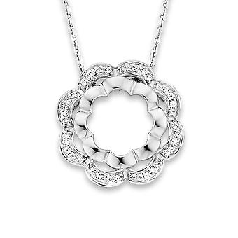 Orphelia Silver 925 Chain With Pendant Flower Zirconium (Zk-7200)  ZH-7127