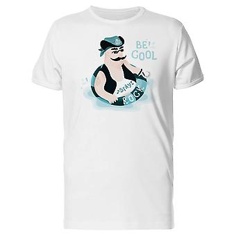 Pirate Floats On A Life Ring Tee Men's -Image by Shutterstock