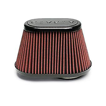 Airaid 721-431 Universal Clamp-On Air Filter: Oval Tapered; 3 in (76 mm) Flange ID; 5.25 in (133 mm) Height; 8.5 in x 5.